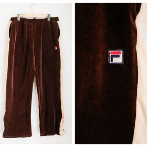 Fila Thick Velour 70s Look Relaxed Fit Joggers